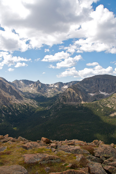 Rocky Mountain National Park.  Tundra in foreground
