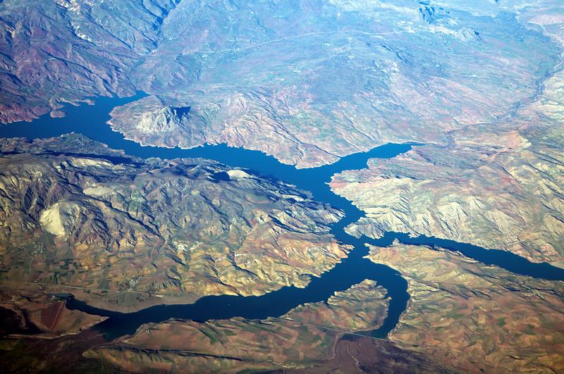The reservoir behind Turkey's Ataturk Dam