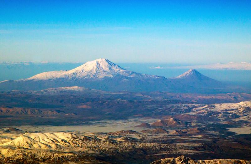 Mt. Ararat (16,854 ft.) with Little Ararat on the right.