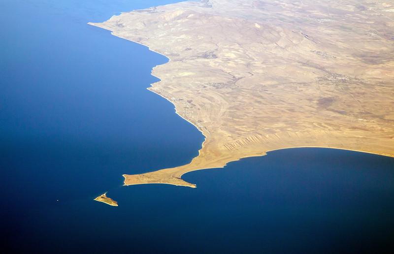 A landmark in the Caspian Sea