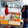 "Fruit vendors at ""the best toilet"" stop"