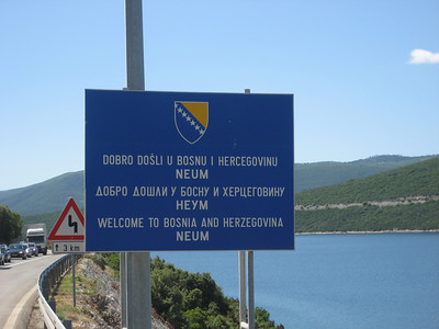 Into Bosnia for a few miles as it intersects the Croatian coast road for a few miles
