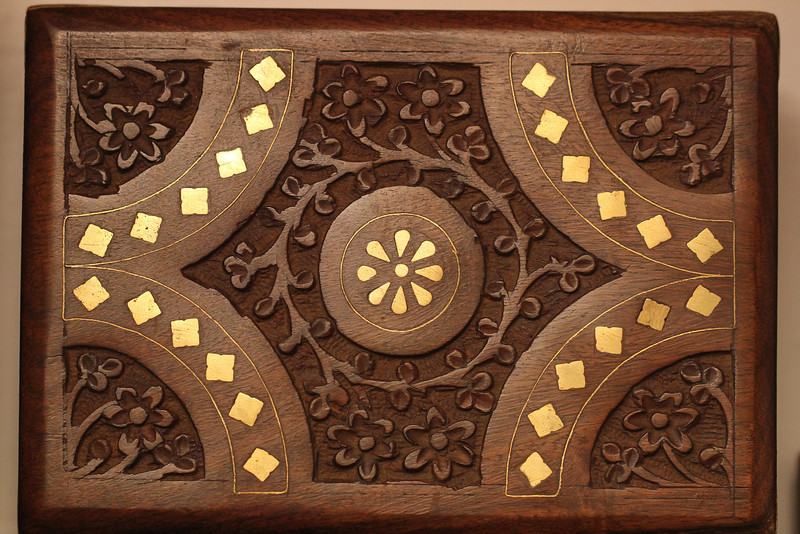 Hand-carved wooden box
