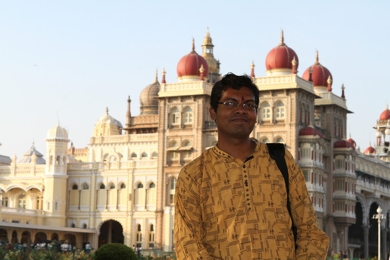 Naveen at Mysore Palace
