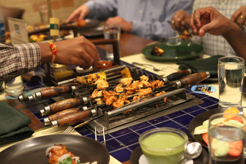 Team lunch at Barbeque Nation - and this is just the STARTERS!