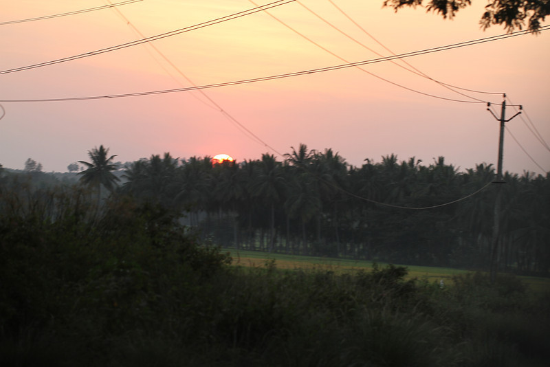 Sunset outside of Mysore