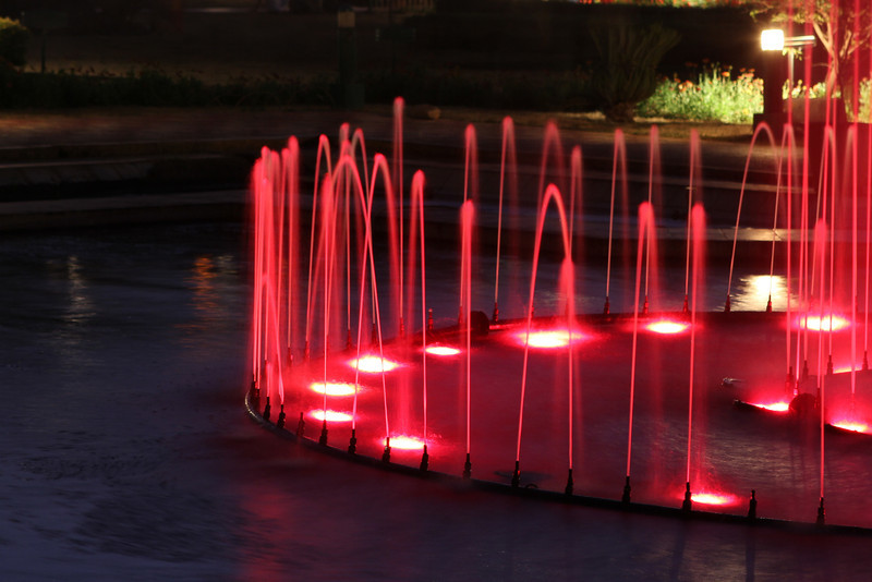 Light show at Brindivan Gardens