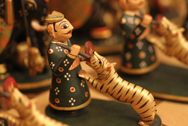 Hand-carved chess set