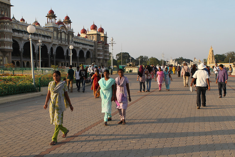 Visitors at Mysore Palace, Karnataka, India