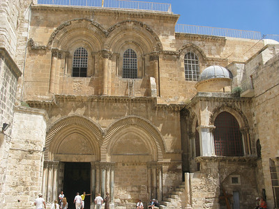 Church of the Holy Sepulchar - created by Helen II, mother of Constantine the Great, over the site of the crucifixion, the slab where Christ was prepared for the tomb, and the tomb itself.