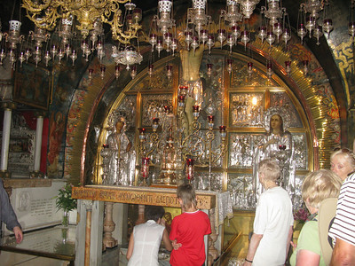 The Greek Orthodox chapel with the the church, over the site of the crucifixion