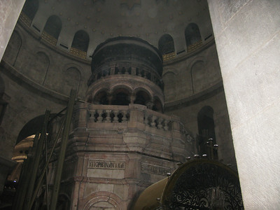 This chapel covers the tomb from which Christ arose.