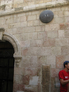 The sixth station of the cross, through the narrow streets
