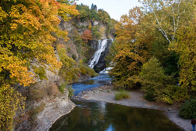 Ithaca Falls, near the site of the old Ithaca Gun Company.