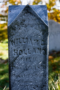 The grave marker of my great-great-grandfather William Holland, near Ithaca NY.