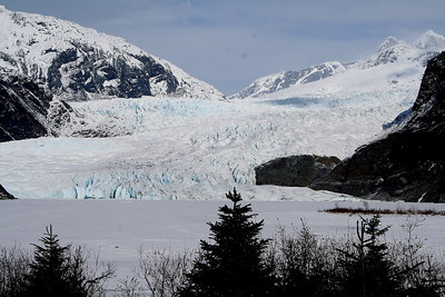 The ranger told us the face of the glacier is 1.5 miles across.  Just to put it into perspective....