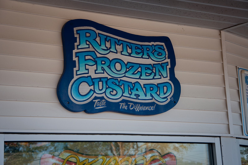 Ritters Frozen Custard in Katy, Texas. Wilfredo convinced Linda and I that we had to make a visit.