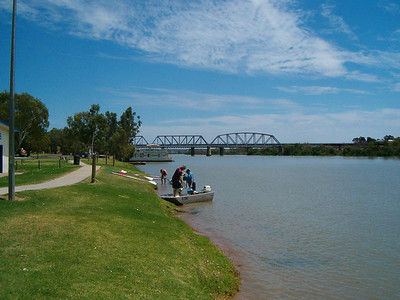 "The ""great"" River Murray at Murray Bridge"