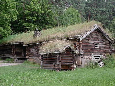 Now we are in Oslo. This is a part of a folk village in the city and is an example of the types of dwellings  that were part of Norway's history.