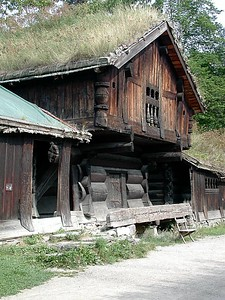 Another type of farm building from the Telemark region of Norway.