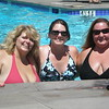 Hanging out by the pool: Karen, Amy & Trina