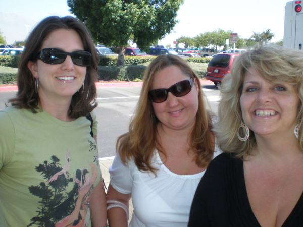 Arriving in Ontario, CA.  We got up at 3 a.m., can you tell?  Amy, Trina, and Karen