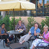 Tammy, Cathy, Lisa, and Sallie hanging out at hotel