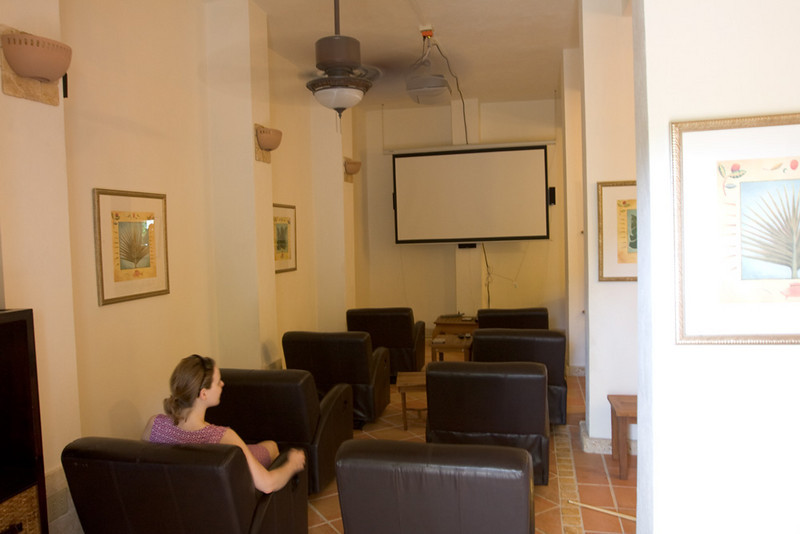 Movie theater in Sonadores.
