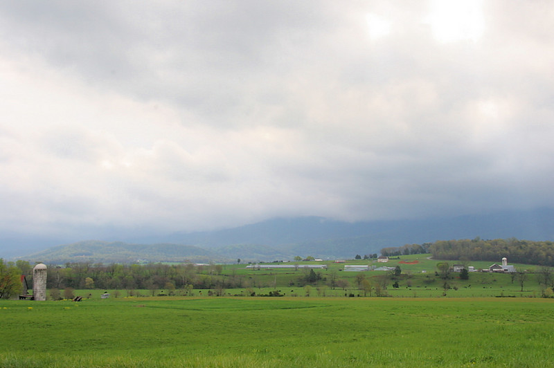 Storm clouds on the Blue Ridge.