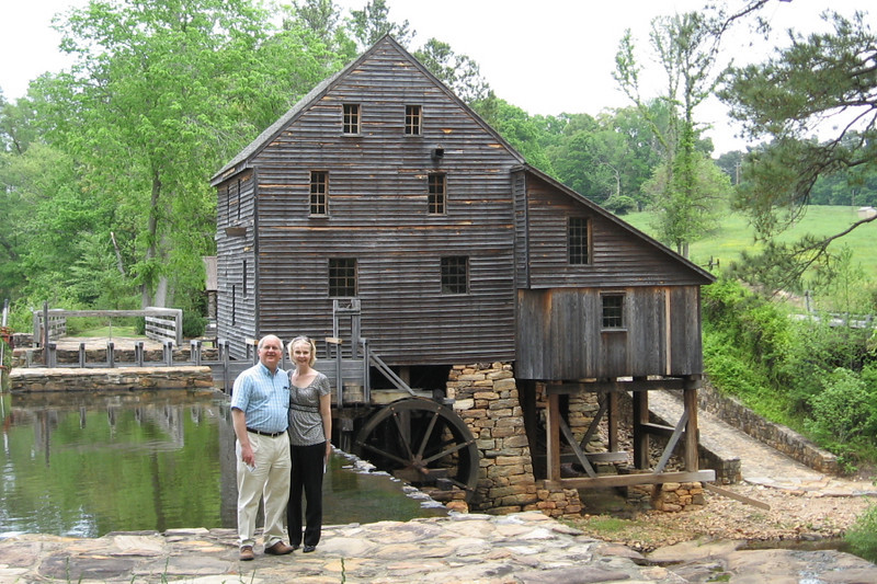 Sue and Larry at Yates Mill.