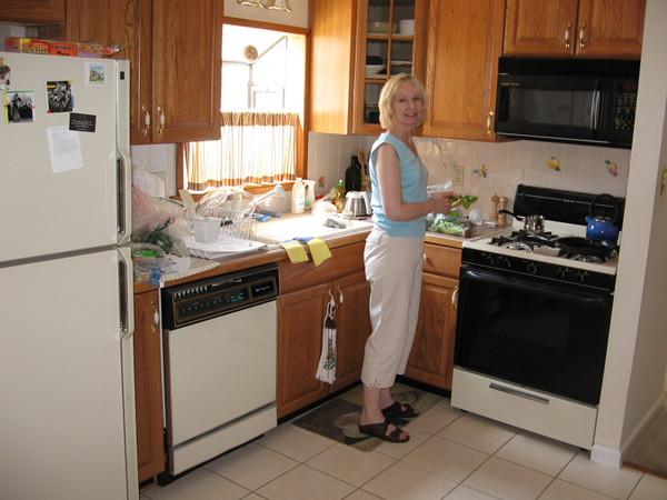 Suzanne in the kitchen.