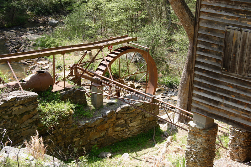 Water wheel of Meytre Grist Mill, Valdese, NC.