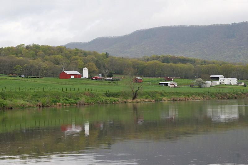 Shenandoah River farm.