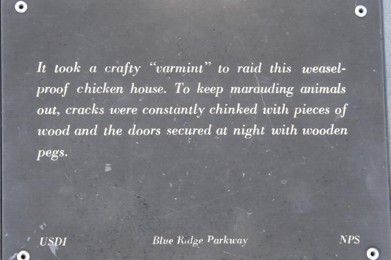 Exhibit along the Blue Ridge Parkway.
