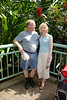 Sue and Larry at the Magic Wings Butterfly House, Durham NC.