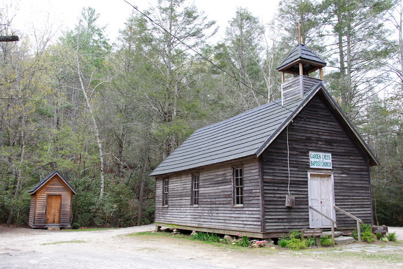 Old church in Stone Mt SP, NC. Built in 1897, services are still held here every Sunday.
