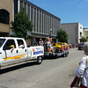 Homecoming Festival parade on Saturday, after the race.