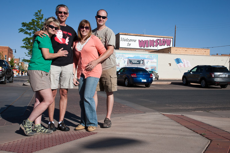 Standing on a corner in Winslow Arizona...