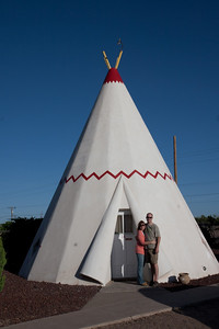 Crystal & Ken at the Wigwam Motel