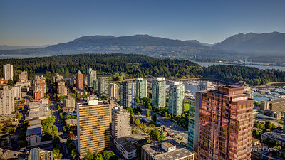 Morning in Vancouver, British Columbia, Canada, July 2014