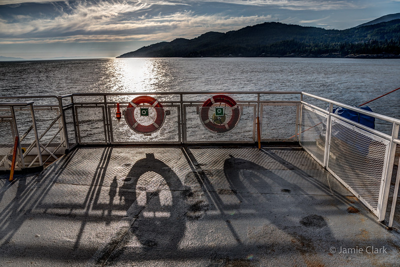 Ferry to Vancouver Island, British Columbia, Canada, July 2014