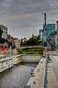 End of the canal. This place struck me as odd; a fairly modern, updated lock, which goes nowhere.  Ghent, Belgium