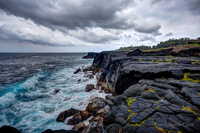 Lava cliffs. Pahoa, Hawaii