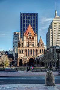 Trinity Church, which we are just not destined to visit inside - Winter Break in Boston 2016-17