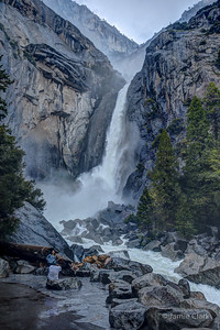 Lower Yosemite Falls. Yosemite National Park