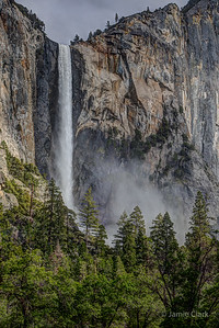 Bridal Veil Falls. Yosemite National Park