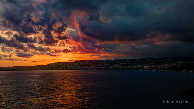Sunset @ Nice, France, October 2017
