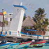 The famous leaning light house of Puerto Morelos