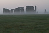 The fog of the morning around Stonehenge