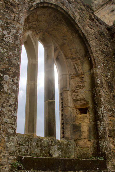 Light through the windows in the Master Bedroom - on the second floor of Bodiam Castle.  Bodiam Castle was used in one of my favorite movies - Monty Python and the Holy Grail.